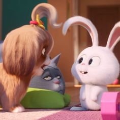 Secret Life Of Pets 2 will be hitting theaters everywhere June people! Mark your calendars dang it! Snowball Rabbit, Rabbit Wallpaper, Cute Bunny Cartoon, Pet 1, Secret Life Of Pets, Pet Rabbit, Butterfly Wallpaper, Cute Characters, Friend Pictures