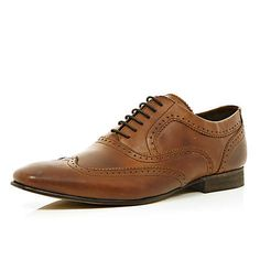 Brown Base London smart lace up brogues - brogues / loafers - shoes / boots - men