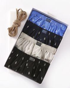 Polo Ralph Lauren Printed Polo Player 100% Cotton Woven Boxer #Boxers #MensUnderwear #HisRoom #PoloRalphLauren