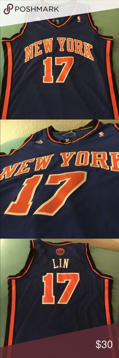 Jeremy Lin New York Knicks Jersey Jeremy Lin New York Knicks jersey Linsanity Jersey Size Adult XL Swingman jersey Everything is stitched A great jersey for any fan Adidas Shirts Tank Tops