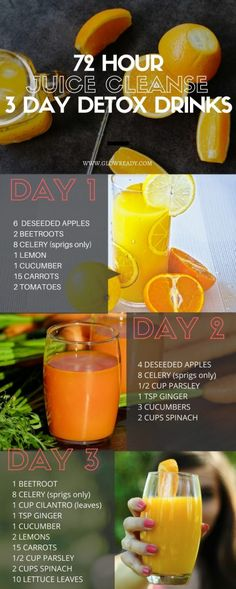 72 hour juice cleanse to get rid of bloating, lose weight, shed some pounds before a big event, get rid of acne, and improve your health. Simple detox drinks included in the juice cleanse to keep you healthy and reduce stomach fat quickly. Easy weight loss recipes using juice cleanse and detox drinks.