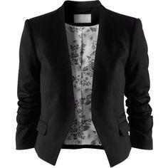 so ähnliche blazer habe ich (2 stück). ich mag daran, dass sie vorne offen sind und kurz geschnitten. passt zu blusen, shirts und kleidern.