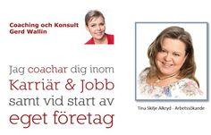 Hjälp Tina att hitta sitt arbete som projektledare före 1 mars! Jag intervjuar Tina Skilje Alkryd, IT-tekniker, projektledare och entreprenör som söker deltidsarbete. Vilket arbete söker du? – Jag söker ett deltidsarbete som projektledare, gärna i ett mindre företag. Vilken arbetslivserfarenhet har du? – Jag har erfarenhet från arbete som projektledare inom IT och pension, operativ chef inom telekom, coach och egen företagare.
