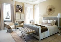 Love the idea of a tufted bench at the foot of the bed. Check out My Chic Nest's Zia bench.