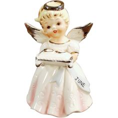Old, June Bride or Birthday, Porcelain Angel.