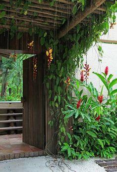 Landschaftsbau von Rud Kunst Backyard garden tropical patio 39 ideas The Truth Abo Tropical Patio, Tropical Garden Design, Tropical Landscaping, Tropical Plants, Tropical Gardens, Bali Garden, Balinese Garden, Dream Garden, Pergola Patio