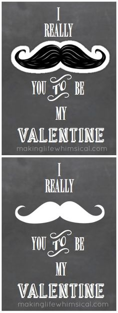 """MUSTACHE"" Valentine. Just add a ""mustache"" sticker (30¢ at Party City). LOVE!"
