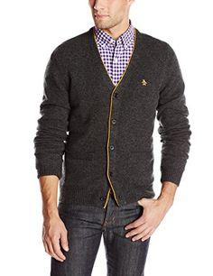 Original Penguin Men's Long Sleeve 5 Button Lambswool Cardigan Sweater, Dark Charcoal Heather, Large Original Penguin http://www.amazon.com/dp/B00LNYKX72/ref=cm_sw_r_pi_dp_EytFub1D8FWS1