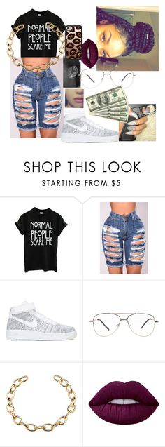 """""""$@Vage"""" by th30fficial6re ❤ liked on Polyvore featuring NIKE, Lime Crime and Casetify"""