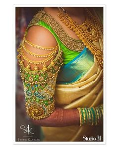 ae760a8f1e80f8 40 Heavy Maggam work Bridal Blouse design for your wedding - Wedandbeyond