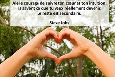 Agissez Solutions added a new photo. Steve Jobs, Intuition, Courage, Holding Hands, Sayings, Celebrities, Facebook, Lifestyle, Stars
