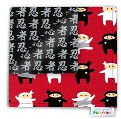 Ninja reusable napkins for kids! Via Funkins.