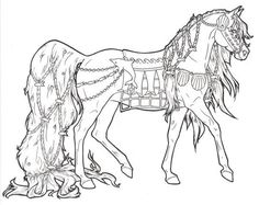 Animal Coloring Pages On Horse Coloring Pages Barbie