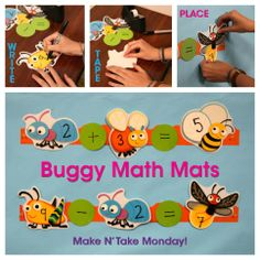 You can make these math mats with our new Buggy for Bugs or any other assorted Cut-Outs. Click the image to see the directions!
