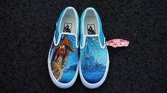 Disney Tangled See the Light Custom Painted VANS for Dennis  Each pair of CestlaVic shoes are custom hand-painted with high quality acrylic paints and are finished with a water-repellent, weather-protection sealant. All shoes are unique, no shoes will have the exact same design . ====================================...
