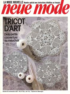 Knitting lace: Neue Mode 5207 tricot d'art from Picasa Crochet Book Cover, Crochet Books, Thread Crochet, Filet Crochet, Crochet Doilies, Knitting Books, Vintage Knitting, Lace Knitting, Knitting Magazine