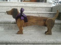 Bassotto in legno di recupero Fatto a mano.€95