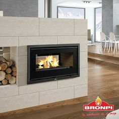 LONDRES - Wood-burning fireplace insert by Bronpi Calefacción, S. Wood Burning Fireplace Inserts, Fireplaces, Home Decor, Fire Places, London, Fireplace Set, Decoration Home, Room Decor, Fire Pits