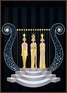 Erté (Romain de Tertoff) Art Deco poster design!...rows of woman to appear and disppear