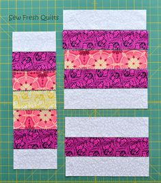 Sew Fresh Quilts: Granny Square Quilt Block Tutorial - Part 2 - using strips