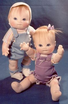 free baby doll patterns | Baby Doll SEWING PATTERN 12 inch Jointed Cloth Doll Boy or Girl ...