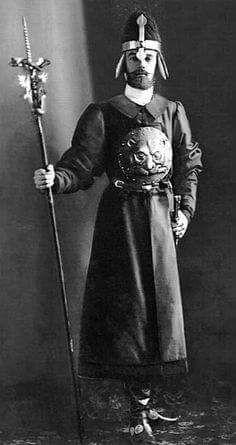 """Grand Duke Sergei Mikhailovich Romanov of Russia in his 17th Century costume for the 1903 Ball at the Winter Palace.  """"AL"""""""