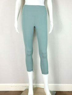 5254b5608f (eBay Ad) LULULEMON Wunder Under Crop High Rise Full On Luxtreme Celadon  EUC!