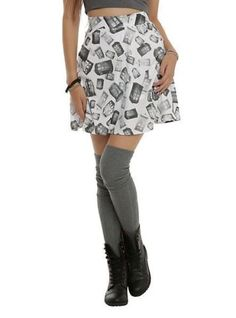 New-Hot-Topic-Cosplay-Her-Universe-Doctor-Who-Police-Box-TARDIS-Stretch-Skirt-S
