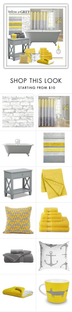 """Brighten the Blahs"" by patricia-dimmick ❤ liked on Polyvore featuring interior, interiors, interior design, home, home decor, interior decorating, Brewster Home Fashions, Intelligent Design, Pine Cone Hill and Seven Gauge Studios"