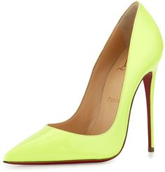 Christian Louboutin So Kate Patent 120mm Red Sole Pump, Light Green by Christian Louboutin http://api.shopstyle.com/action/apiVisitRetailer?id=503652847&pid=uid1209-1151453-20