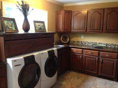 My final Laundry room custom built by my husband Tab Shumway!!