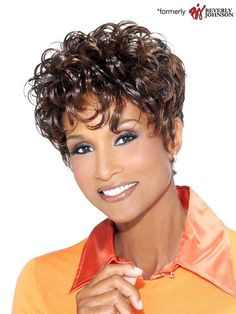 2019 New Top Quality Natural African American Hairstyle Short Curly Wig Hair Short Wigs African American, African American Hairstyles, Haircut For Older Women, Haircut For Thick Hair, Short Curly Pixie, Short Hair Cuts, Bob Hairstyles, Hairstyle Short, Short Curly Hairstyles For Women