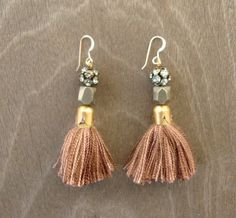 Handmade tassle earrings out of embroidery floss is whats up!