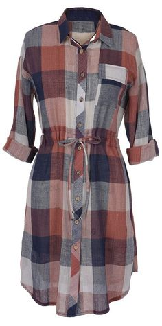 New babe in! Only $24.99 with free shipping&easy return! Look! This shirt dress structured with button down design&waist drawstring! It will be your fave for daily casual/sassy look! Search more at Cupshe.com Only!