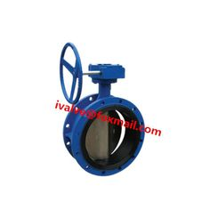10 Inch Rubber Seal Double Flanged Type Butterfly Valve