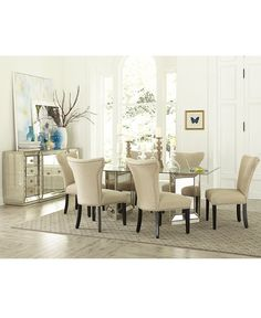 Russet 6Piece Dining Set Dining Table 4 Chairs And Bench Fair Macys Dining Room Chairs Inspiration Design