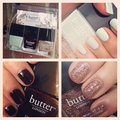 Butter LONDON nail polish Holiday Trio . In boutiques only! Get yours at www.arcoavenue.com.