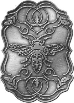 Wasp - Custom Bicycle Head Badge