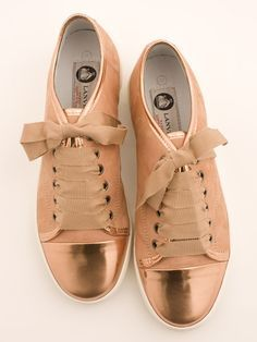 Lanvin Copper Toe Basket Trainer. I wore my leopard-print leather Lanvin sneakers with the brown suede toe-cap into the ground. would love these as a replacement...