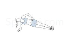 Side plank exercise guide with instructions, demonstration, calories burned and muscles worked. Learn proper form, discover all health benefits and choose a workout. http://www.spotebi.com/exercise-guide/side-plank/