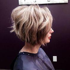 Stacked blonde bob with layers by @chelseamcvey_salon, love this shabby chic look! #SalonLofts #FindYour #dublin #socolumbus #stackedbob #asseenincolumbus