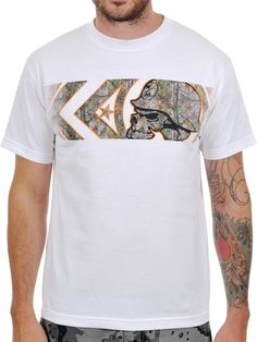 Metal Mulisha Optic White Banded Realtree Camo T-Shirt  5b5ea2c9249