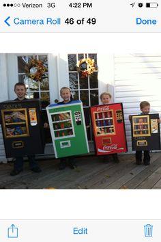 Vending machine costumes Diy Halloween Costumes, Halloween 2019, Halloween Stuff, Halloween Makeup, Halloween Ideas, Diy Clothes Kawaii, Vending Machine, Arcade Games, Big Day
