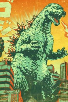 i watched #Gojira movies since I was a toodler. #Godzilla ::: Godzilla poster