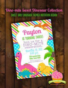 Printable Invitation Design  Dinomite Sweet by papercupcakedesigns, $17.00