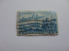 1701-1951 Detroit 3 cents Classic United State Postage Stamp
