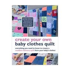 Looking for a DIY baby clothes quilt pattern? Wonder how to make a baby clothes memory quilt? Check out our DIY baby quilt tutorials, kit, books and videos! Diy Baby Quilting, Baby Quilts, Memory Quilts, Diy Baby Clothes Quilt, Cute Baby Clothes, Unique Mothers Day Gifts, Unique Baby Shower Gifts, Onesie Quilt, Shirt Quilts