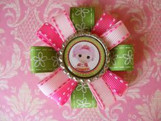Lalaloopsy Bottlecap Hair Bow by LivelyGirlDesigns on Etsy, $4.00