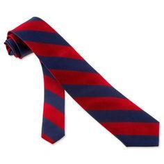 Burgundy and Navy striped tie