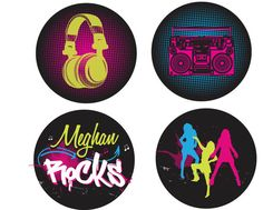 Hip Hop Party PRINTABLE PARTY CIRCLES by ItsyBelle by ItsyBelle, $10.00